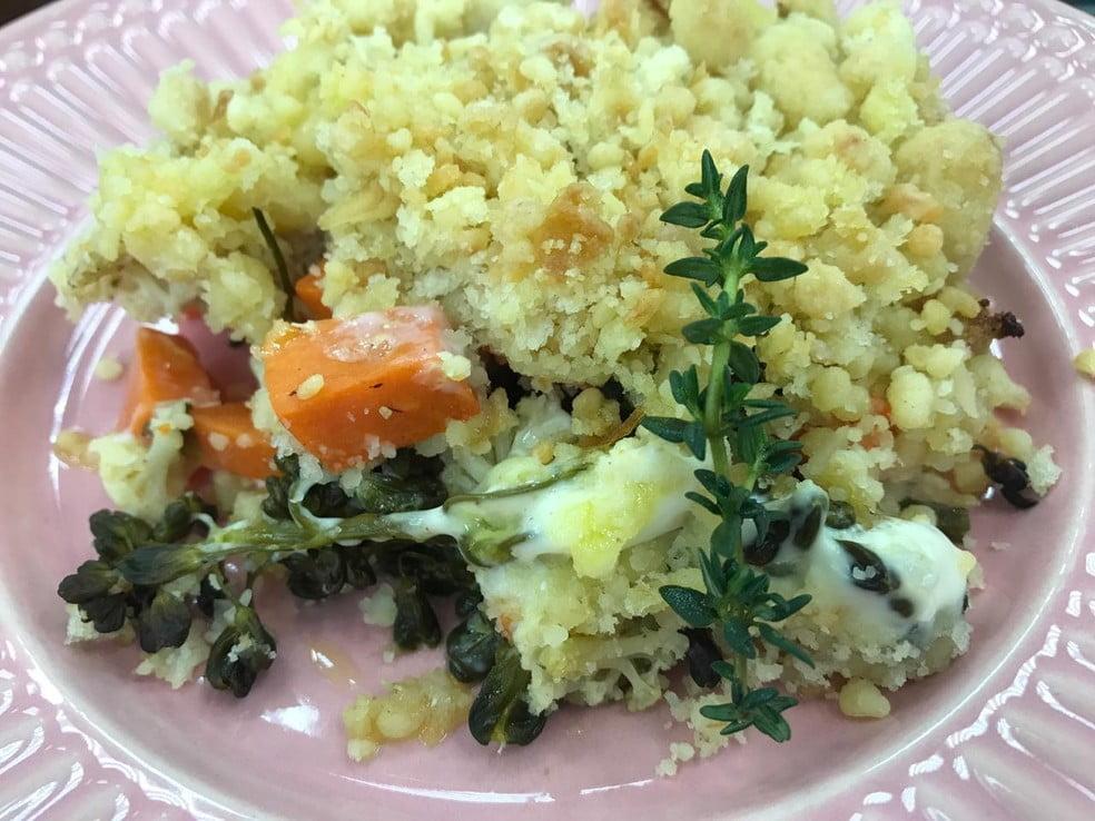 Crumble de Legumes da Ana Maria Braga